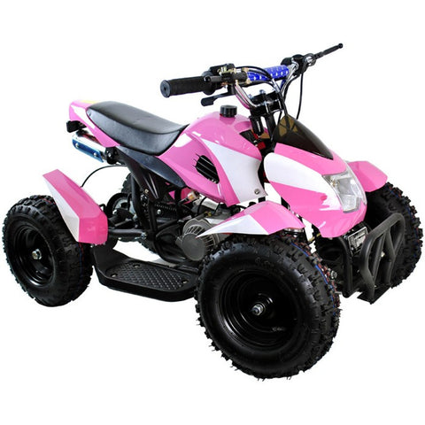 49cc Zipper Petrol Mini Quad Bike - Pink & White