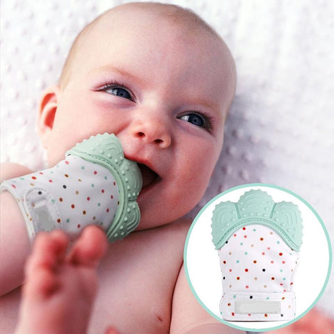 Baby Teething Pain Relief Mitten - Safe Silicone