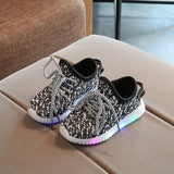 Comfy LED Mesh Sneakers for Toddlers and Kids