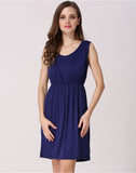 Sleeveless Breastfeeding Jersey Dress - Nursing Summer Dress