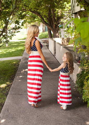 Mother & Daughter Matching Dresses - 4th Of July Outfit