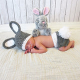 Bunny Rabbit Crochet Set - Easter Photography Props