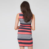 New 2018 Fashion Nursing Dress - Striped Sleeveless Maternity Dress