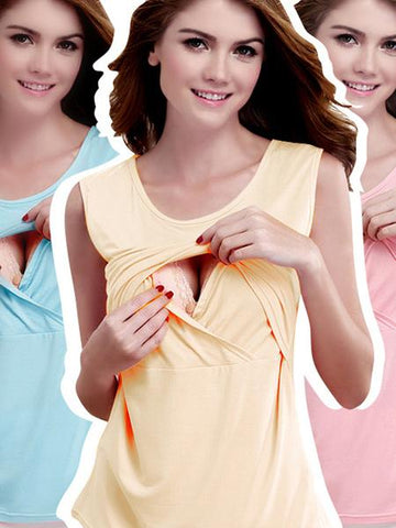 Sleeveless Nursing Summer Top