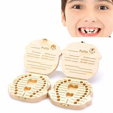 Wooden Milk Teeth Box