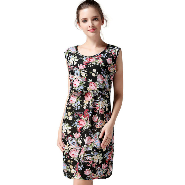 Magnificient Floral Breastfeeding Casual Dress