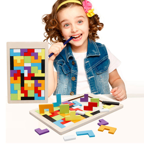 Wooden Tetris Educational Game