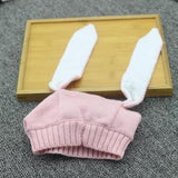 Baby Bunny Ears Hat - Knitted Beanie Hat FREE