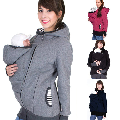 Multi-Function Mama Kangaroo Baby Carrier Hoodie