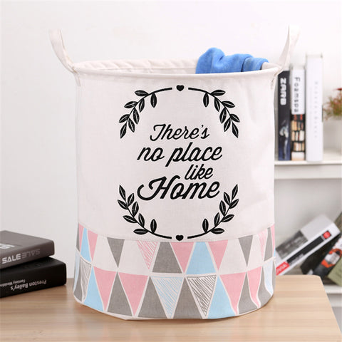 Baby Room Organizer Canvas Basket - Toy & Clothes Storage Bag