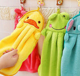 Soft Hand Towel Soft Children's Cartoon Animal Hanging Wipe Bath Face Towel