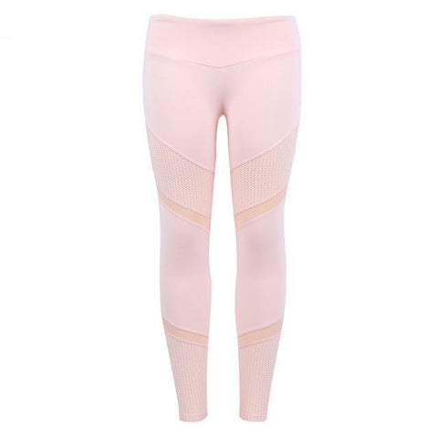 Women's Workout Pink Leggings - High Waist Leggings