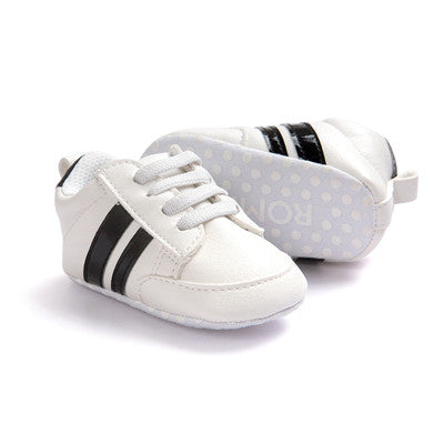 Striped Baby Sneakers - Soft Anti-Slip Pre-Walker Shoes