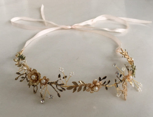 Gold leaf headpiece
