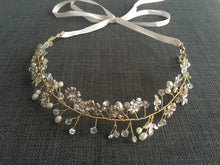 Floral & Pearl Beaded Head Wreath