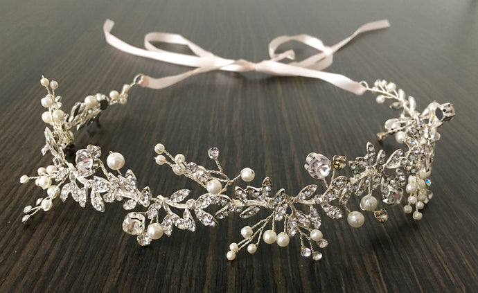 Sparkle & Pearls in silver