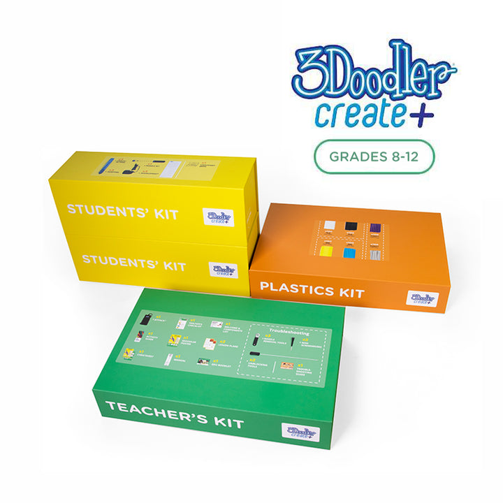 3Doodler EDU Create+ Learning Pack, 6 Pens