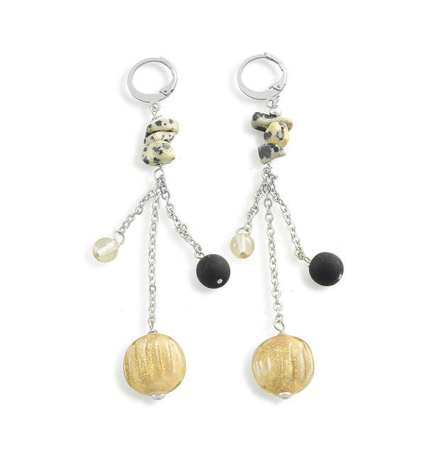 Murano Glass Long Earrings Savage Gold - Antica Murrina | IN ITALY