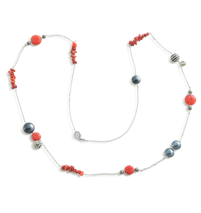 Murano Glass Long Necklace Savage Red - Antica Murrina | IN ITALY