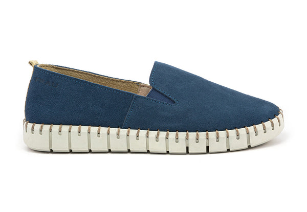 Slip On Suede Blue - Frau Shoes | IN ITALY