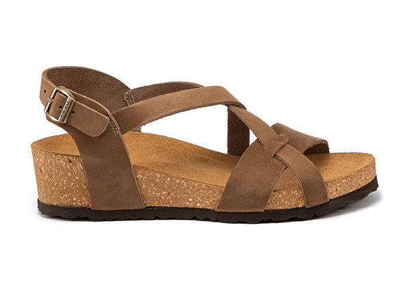 Sandals Multi band Nubuck Sand - Frau Shoes | IN ITALY