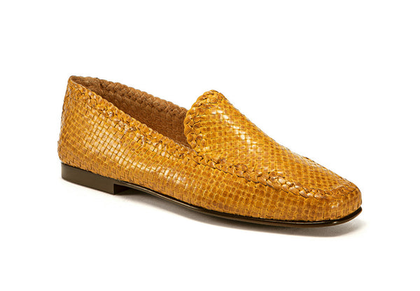Moccasins Woven Leather Yellow - Frau Shoes | IN ITALY