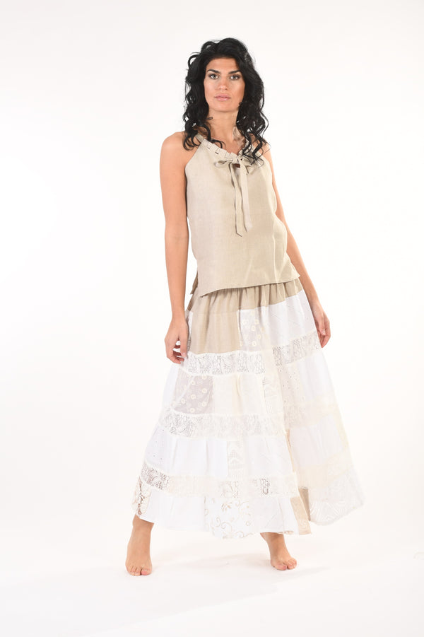 Pure Linen Skirt Augusta - Selene Boutique | IN ITALY