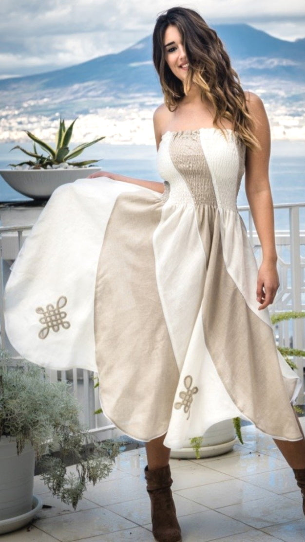 Pure Linen Dress Barbara - PosiTiamo | IN ITALY