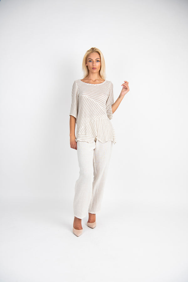 Pure linen top Picolit with trouser pereva - Marilu Moda | IN ITALY
