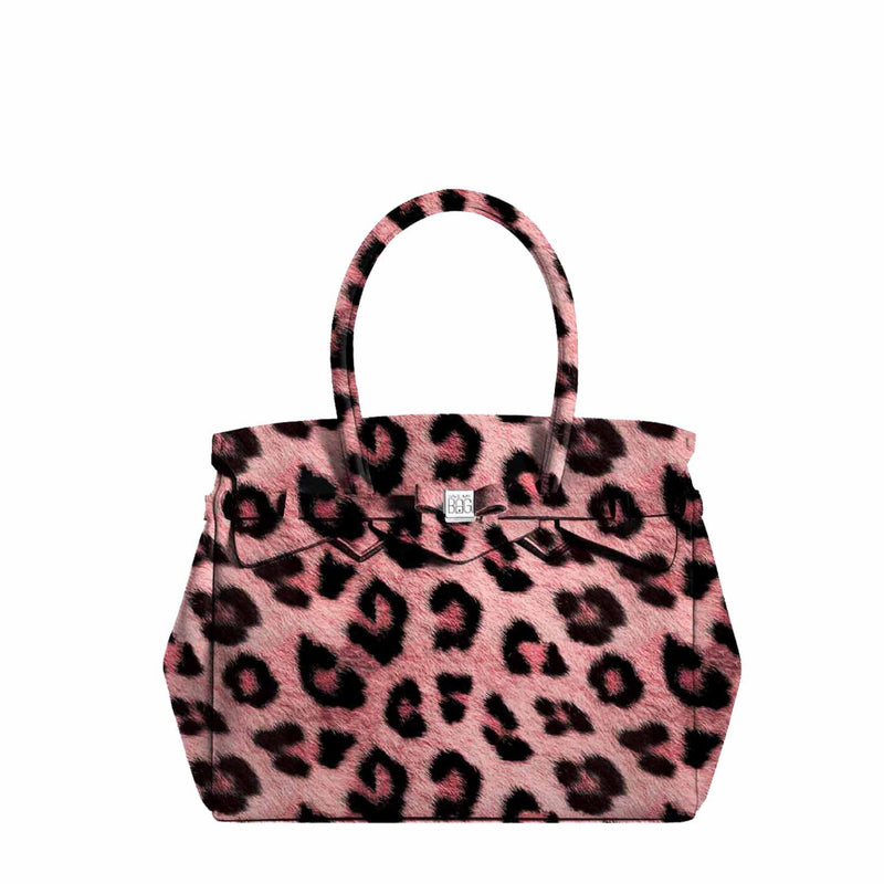 Miss Petite Leopard Pink Handbag - Save My Bag