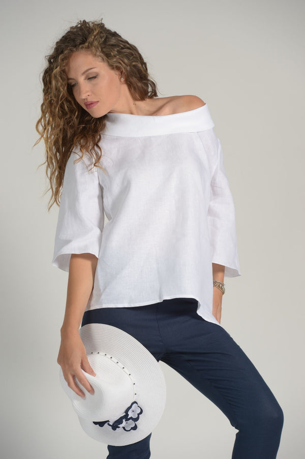 Pure Linen Tunic Teia - Selene Boutique | IN ITALY