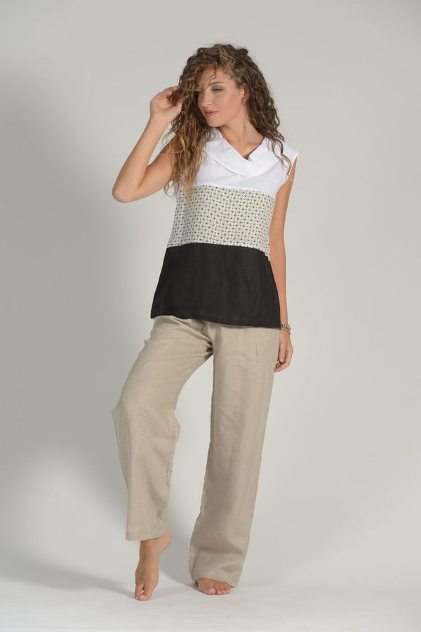 Pure Linen Top Iadi - Selene Boutique | IN ITALY
