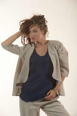 Pure Linen Jacket Afrodite - Selene Boutique | IN ITALY