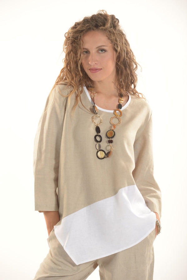 Pure Linen Tunic Nike - Selene Boutique | IN ITALY