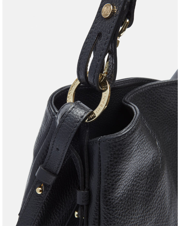 Velvet shoulder bag with extendable strap Black - Cuoieria Fiorentina | IN ITALY