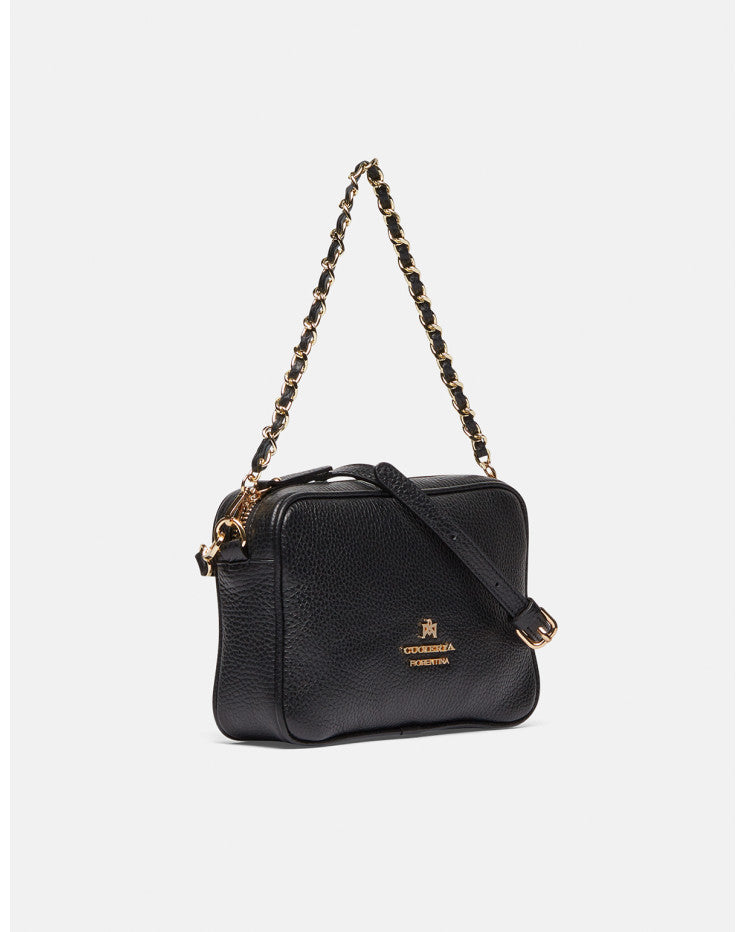 Small shoulder bag with two straps Black - Cuoieria Fiorentina | IN ITALY