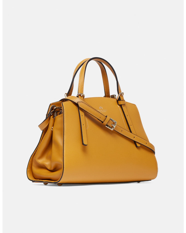 Alice small tote bag with lined interior Yellow - Cuoieria Fiorentina | IN ITALY