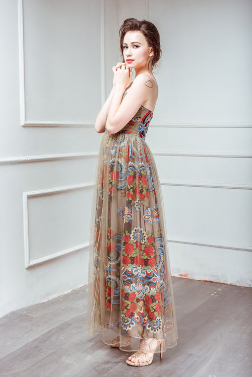 Heavenly Garden PEONY Bell of the Ball Evening Dress