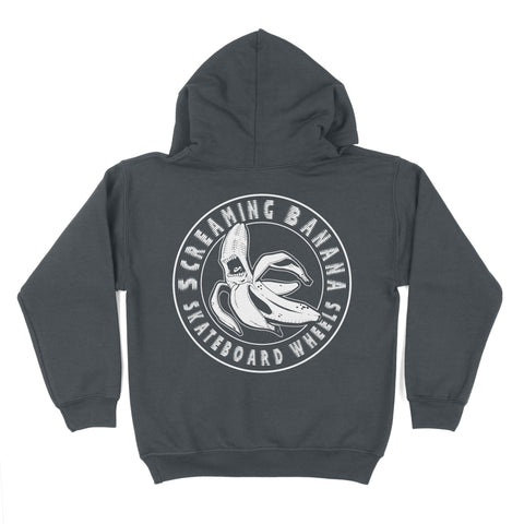 "Kids Grey ""Screaming Banana"" Hoodie"