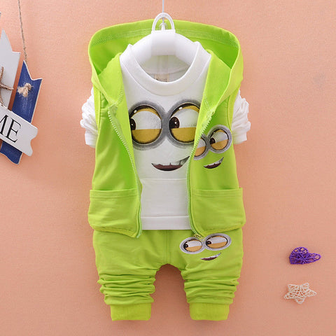 Baby's Minion Vest+T-Shirt+Pants
