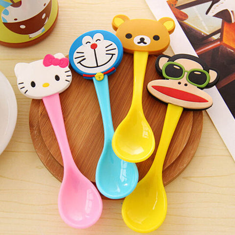 Lovely Cartoon Baby Spoon