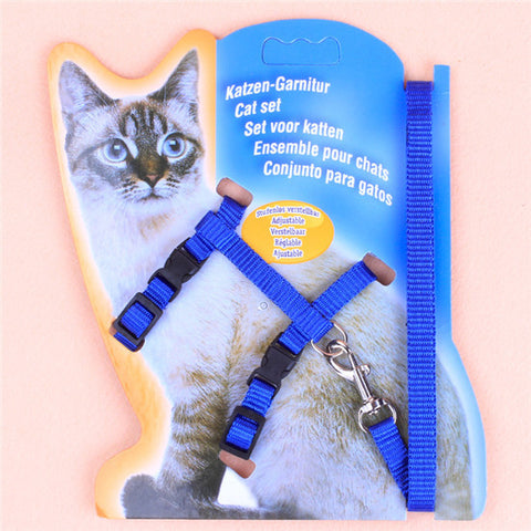 Adjustable Nylon Rope Pet Dog Puppy Cat 5 COLORS Lead Leash Harness Walking Chest Strap