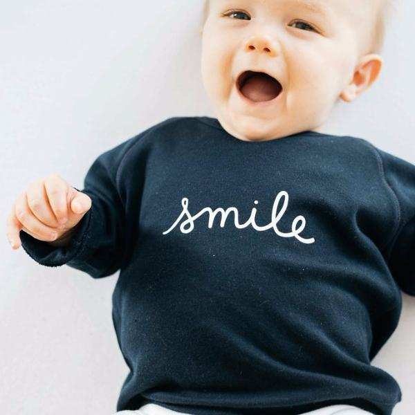 Sweatshirt Navy Smile