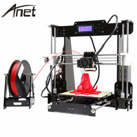 High Quality A6 A8 Full Acrylic Frame 3D Color Printing Printer DIY Kit Filament SD Card LCD Screen Display  i3 +16GB Card