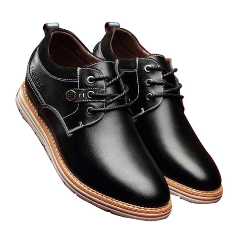 Magnificent Men Elevator Shoes 2018 New 6cm height Increasing Casual Business Shoes