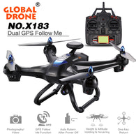 Amazing Global Drone X183 Drone Quadcopter Rc Helicopter Toy Remote Control Toy can carry with 2MP WiFi FPV HD GPS Follow Me 720P Camera