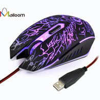 Amazing Gaming Mouse  Rechargeable Wired Colorful Finger Mouse Optical Positioning 2400 DPI For Computer Pc Laptop