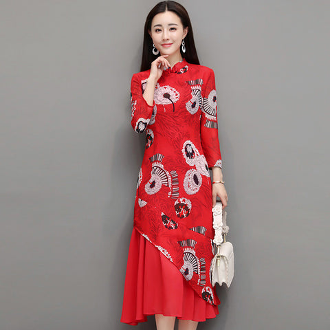 Magnificent New Chinese Style Mid-Calf Cheongsam Dress 2018 ...