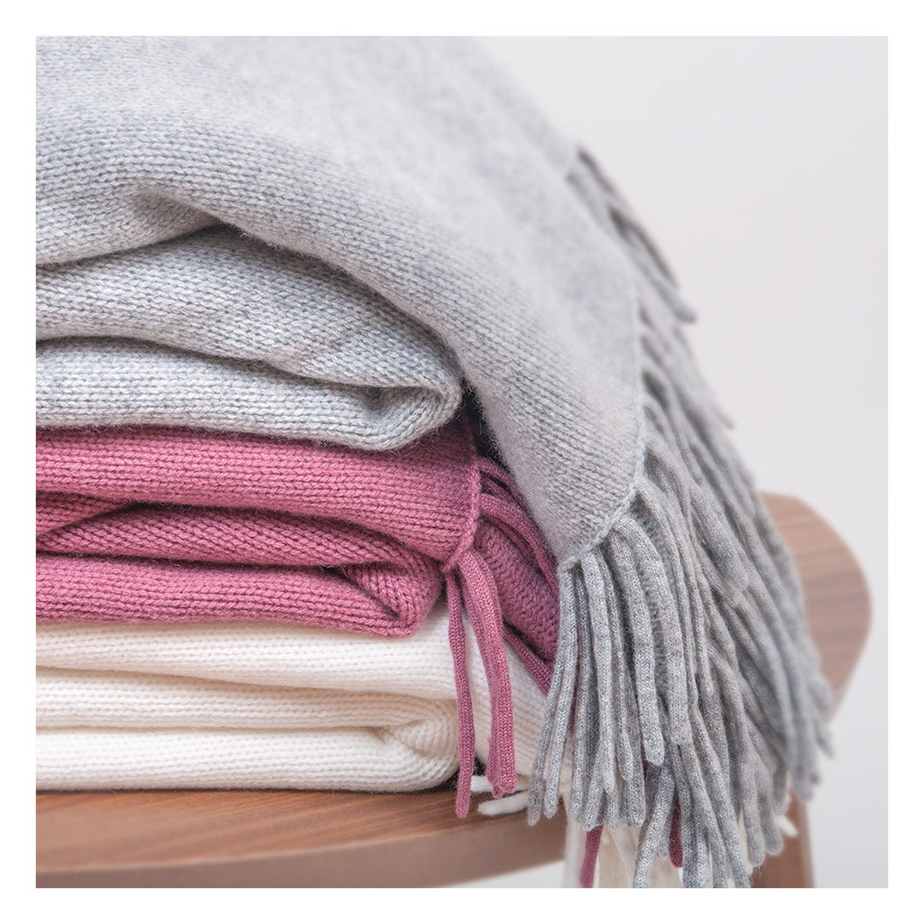 Cashmere blanket in 100% Cashmere