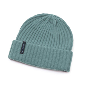 kashmina hat arctic blue green cashmere beanie sustainable norwegian design